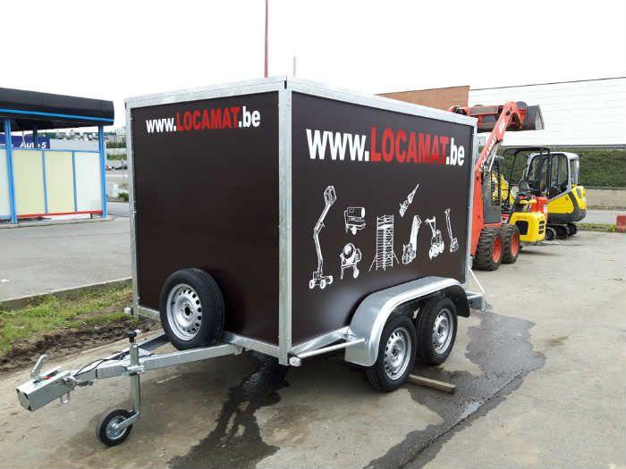 Remorque fourgon 750kg, 2 essieux